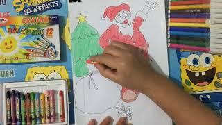 Tô màu tranh ông già Noel- Coloring Santa Claus