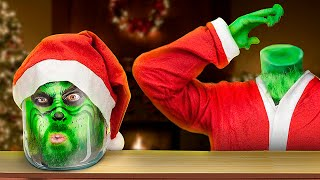12 Christmas Magic Tricks And Pranks With Grinch!