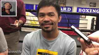 Manny Pacquiao Tells Reporters who is the next manny pacquiao and why!!