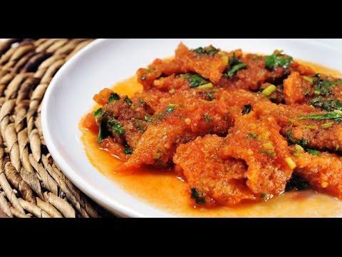 Cocinar Chicharron en salsa roja (facil y rapido)