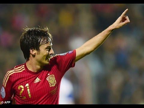 BELARUS VS SPAIN 0-1 14/06/2015 GOAL SILVA