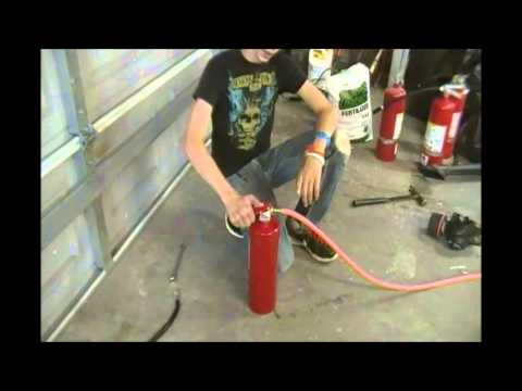 how to make a flamethrower with a water gun