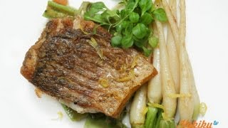 Resep Crispy Skin Barramundi (Crispy Skin Barramundi Recipe Video)