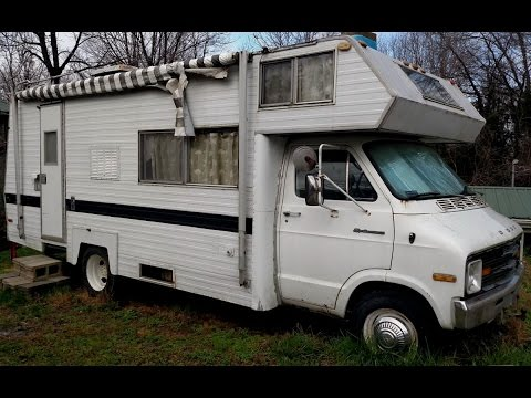 SOLD-$500-For Sale 1974 Dodge RV-Camper-Midas - 28 Foot