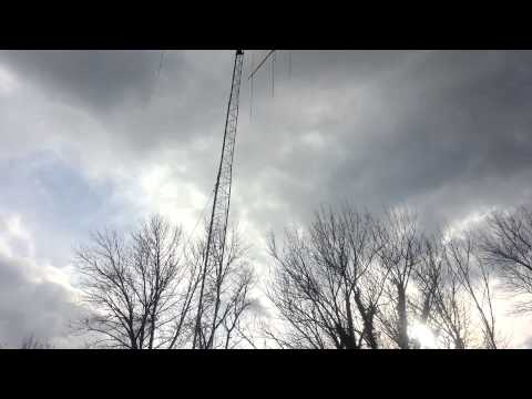 How to raise cb antenna tower the easy way