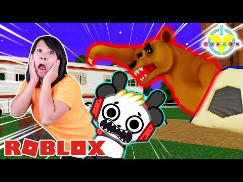 RYAN'S MOMMY ESCAPING SCARIEST ROAD TRIP IN ROBLOX! Let's Play Roblox Road Trip with Combo Panda