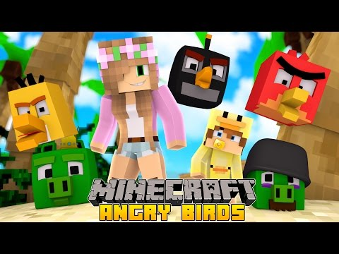 Minecraft - Little Kelly Adventures : SAVING ANGRY BIRDS ISLAND w/ Baby Duck