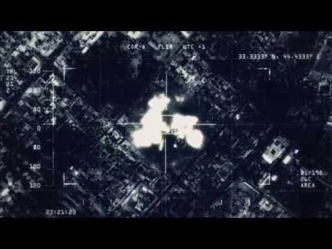 After Effects - Drone Cam Footage / Night vision Aerial shot