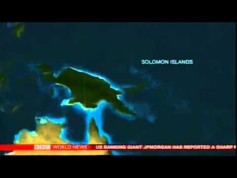 BBC News report 7.6 Magnitude Earthquake near Solomon Islands