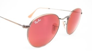 Ray-Ban RB 3447 Round Metal 167/2K Mirrored Sunglasses