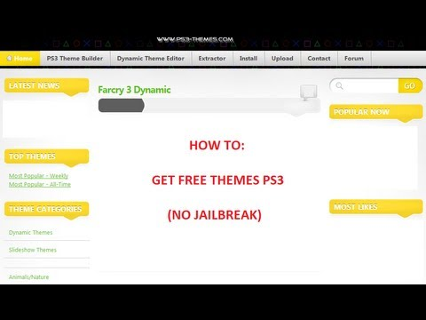 How to Get Free Themes (PS3) (Non-Jailbreak)