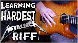 Learning the Hardest METALLICA Guitar Riff