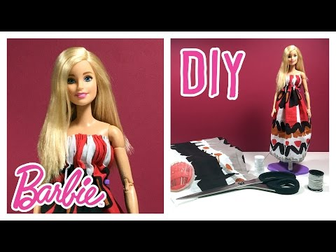 DIY - How to Make Barbie Doll Clothes - Making Barbie Summer Dress Tutorial – Making Kids Toys