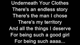 Shakira- Underneath Your Clothes (Lyrics)