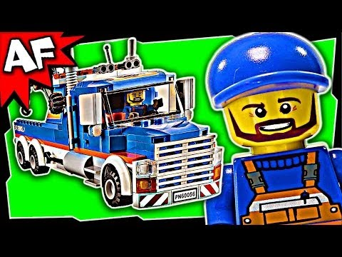 Lego City TOW TRUCK 60056 Stop Motion Build Review