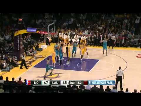 NBA New Orleans Hornets Vs LA Lakers Highlights April 9, 2013 Game Recap