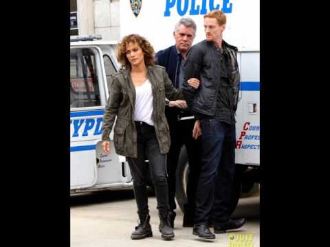 Jennifer Lopez Films an Arrest Scene on Set of 'Shades of Blue'