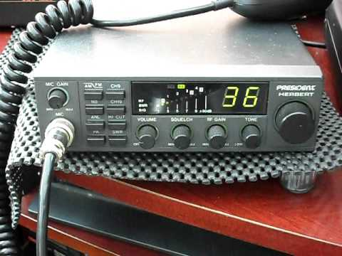 President Herbert 40 Channel AM/FM European CB Radio