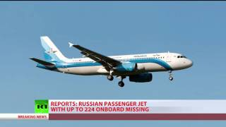Russian A321 jet carring 224 went missing over Egypt