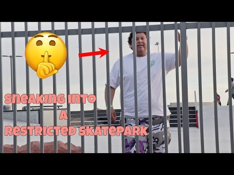 Sneaking Into A RESTRICTED Skatepark