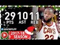 LeBron James Triple-Double Full Highlights vs Jazz (2017.12.16) - 29 Pts, 11 Reb, 10 Ast, BEAST!