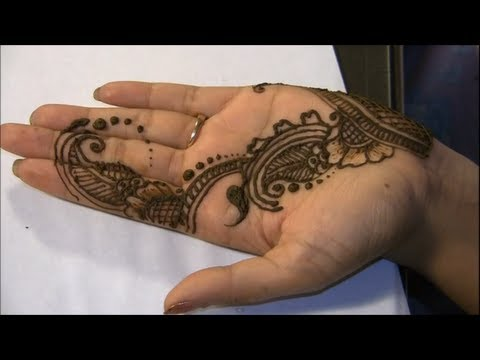How To Make Henna Mehendi Design : Easy Design For Palm video
