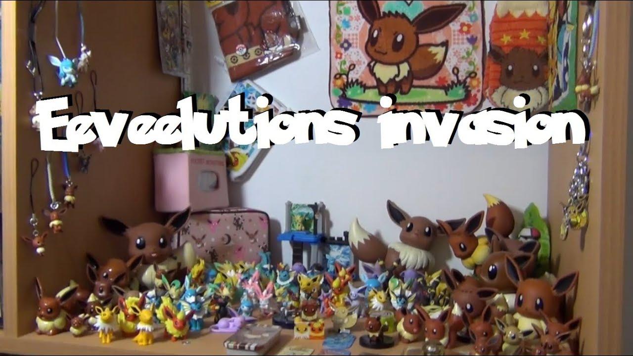 Eevee invasion mon enti re collection de la famille evoli youtube - Famille evoli pokemon ...