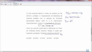 Função demanda, calculo do preço de venda unitário e margem de contribuição