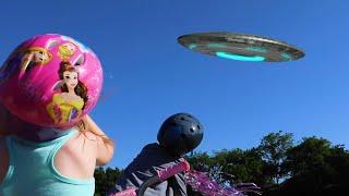 Kids Hunt the Aliens! (with Avengers Endgame Nerf Blasters) KIDCITY