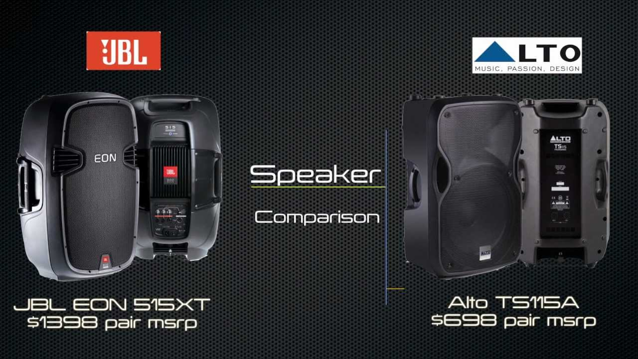 Jbl Eon 515xt Vs Alto Ts115a Audio Comparison Sonic