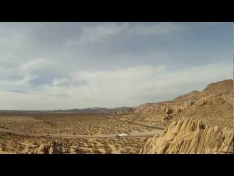 Quadcopter flight over rock formations in Apple Valley CA with theta binaural wave