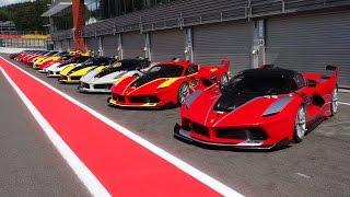 Ferrari Corse Clienti Spa - Ferrari FXX K, FXX + 599XX Evo Line up!