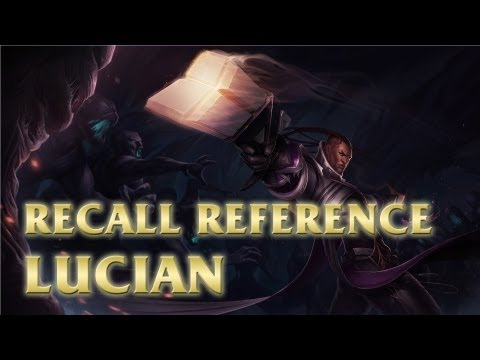 Lucian's Recall - Gun Kata Stance - League Of Legends (lol) video