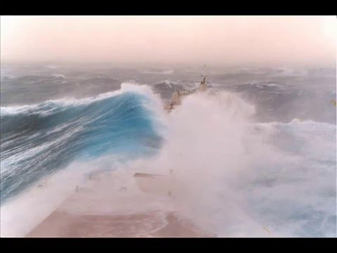 Bulk Carrier Ship at sea in a storm