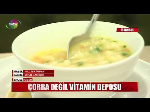 Çorba değil vitamin deposu