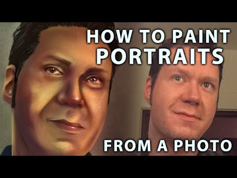 How To Paint Digital Portraits From A Photo (Corel Painter Tutorial)