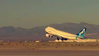Boeing 747-8's million pound takeoff