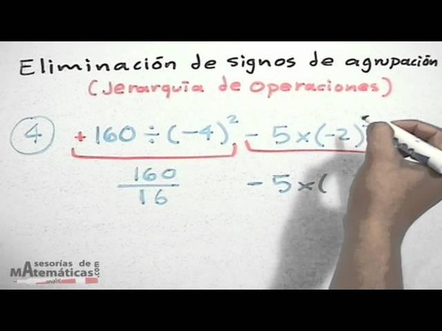 Eliminación de signos de agrupación (jerarquias)