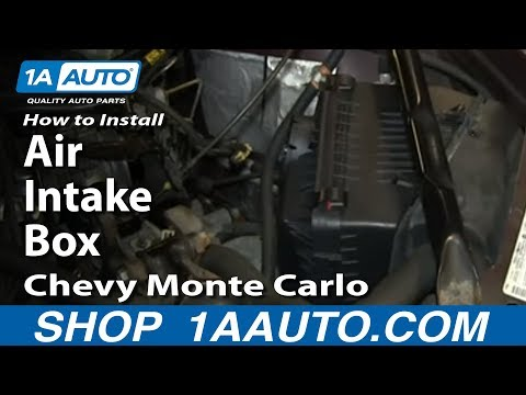 How To Install Replace Air Intake Box 2000-05 Chevy Monte Carlo