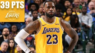 LeBron James goes off for 39-point triple-double vs. the Mavericks | 2019-20 NBA Highlights