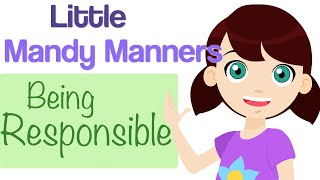 Being Responsible | Little Mandy Manners | TinyGrads | Children's Videos | Character Songs