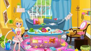 Cleaning Time Birthday Party Funny Game For Kids
