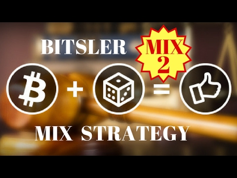 Bitsler Strategy MIX2 Earn Bitcoin Ethereum Litecoin Dogecoin Bitsler Best Bitcoin Dice with Auto Be