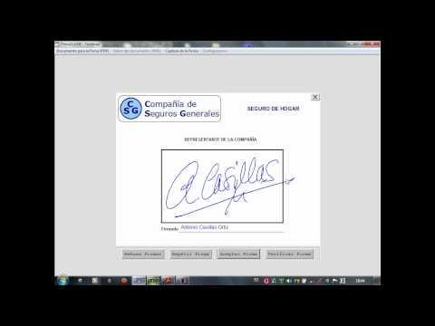 Firmas MANUSCRITA en documentos electrónicos PDF