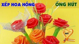Hoa hồng bằng ống hút #DIY Ống Hút