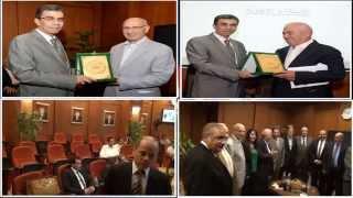 """""""ياسر رزق """" يكرم قيادات الجهاز القومى لتنظيم الاتصالات"""