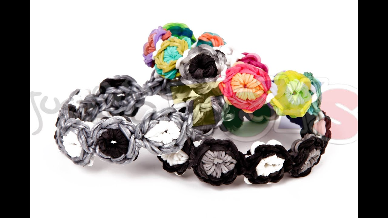 Valentine Bracelets Justin Toys : How to make a flower burst rainbow loom bracelet