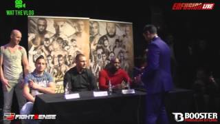 Utley Meriana vs Hicham Achalhi persconferentie Enfusion gold edition