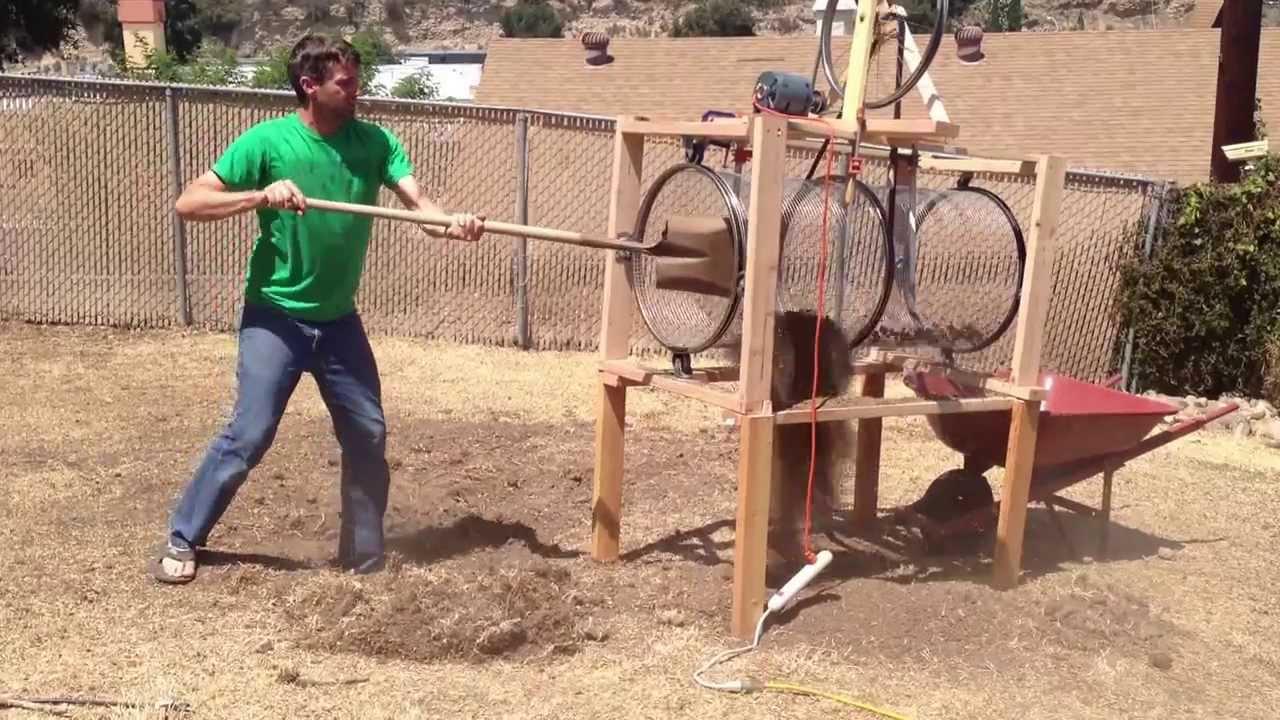 Diy Trommel Rotary Screen Separator Remove Rocks From Soil