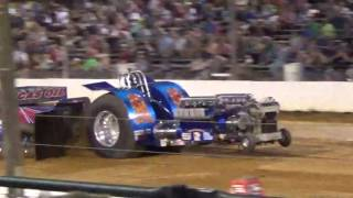 "Nancy Weller ""Hot Damn"" modified tractor pull at the buck"
